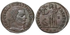 Ancient Coins - Licinius I 308-324 AE follis IOVI CONSERVATORI Jupiter UNC \ Roman Coin