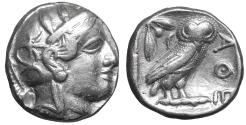 Ancient Coins - Attica Athens Silver Tetradrachm 454-404 BC XF Owl \ Athena