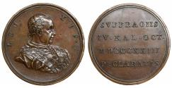 World Coins - Papal States Leo XII 1823-1829 Medal 1823 Rare Mint State Ae 41,50 gr. – 44 mm