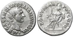 Ancient Coins - Trajan (98-117). Denarius. Rome. Well centered. Good portrait. XF+ \ Abundantia