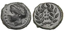 Ancient Coins - Sicily. Himera. 420-407 BC. Hemilitron. Mint State. Dark Patina
