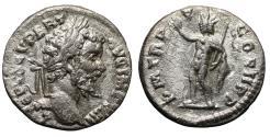 Ancient Coins - Septimius Severus AR Denarius. 197-198 AD aXF