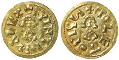 World Coins - Visigoths Suinthila 621-631 AD Gold Tremissis Toleto Toledo  XF\UNC