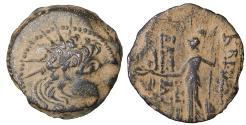 Ancient Coins - SELEUKID KINGS Alexander II Zabinas. 128-122 BC. Bronze. Sandy Patina. VF\XF