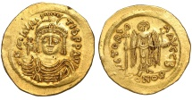 Ancient Coins - MAURICE TIBERIUS 582-602 AD. SOLIDUS (583-601 AD). Constantinople mint