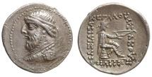 Ancient Coins - Parthian Mithradates II. 121-91 B.C. AR drachm Near MS