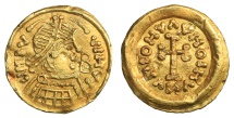 World Coins - Migration Period. The Lombards. Perctarit, 672-688. Gold tremissis R2