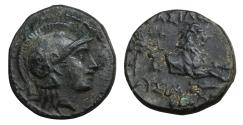 Ancient Coins - Kingdom of Thrace Lysimachos 323-281 BC Bronze XF+