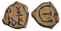 Ancient Coins - Justin II 565-578 Æ Pentanummium Cyzicus mint XF\UNC