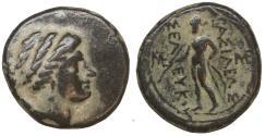 Ancient Coins - Seleukid Kingdom Seleukos II Kallinikos 246-226 BC Bronze  XF\UNC