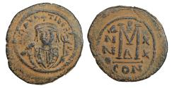Ancient Coins - MAURICE TIBERIUS 582-602 Follis  XF \ Byzantine coins