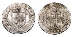 World Coins - Venice. Francesco Erizzo Scudo della Croce 1631-1646 AD. VF\XF