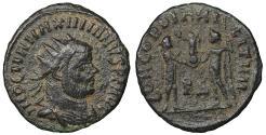 Ancient Coins - Maximianus Æ Antoninianus Cyzicus AD 296 aXF