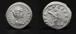 Ancient Coins - Julia Domna. Denarius. Struck under Caracalla, 211-217 AD \ DIANA LVCIFERA Roman coin