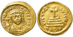 Ancient Coins - Tiberius II. 578-582 AD. Gold Light Weight Solidus. Rare. XF