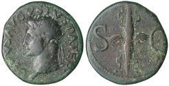 Ancient Coins - Divus Augustus. AE As. Struck 34-37 AD by Tiberius. Scarce. aXF Roman coin