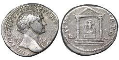 Ancient Coins - Trajan Rare Silver Tridrachm of Bostra Arabia AD 112-114 VF\XF