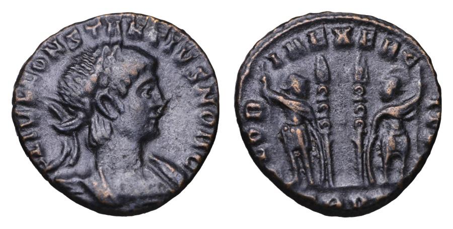 Ancient Coins - CONSTANTIUS II. 337-361 AD. BRONZE  GLORIA EXERCITVS