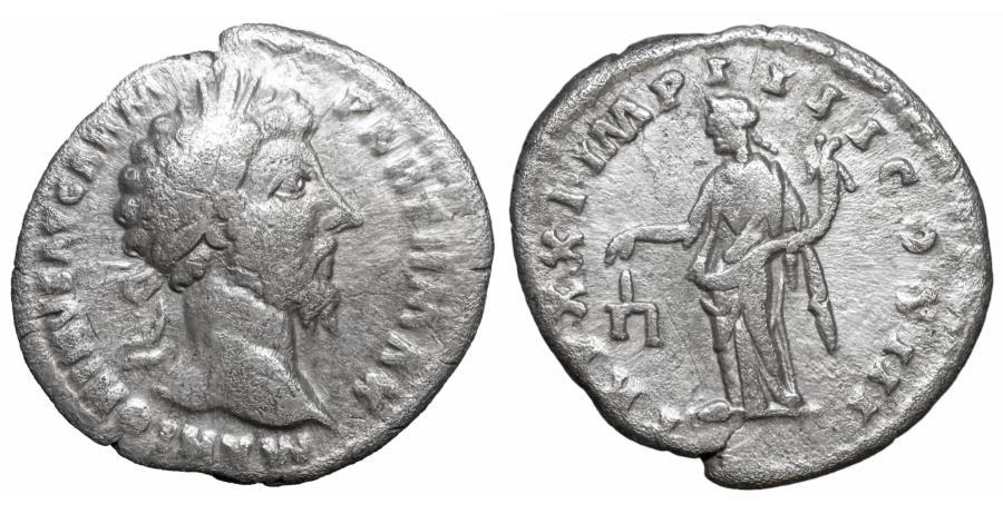 Ancient Coins - Marcus Aurelius 161-180 Silver Denarius Rome VF\XF Aequitas