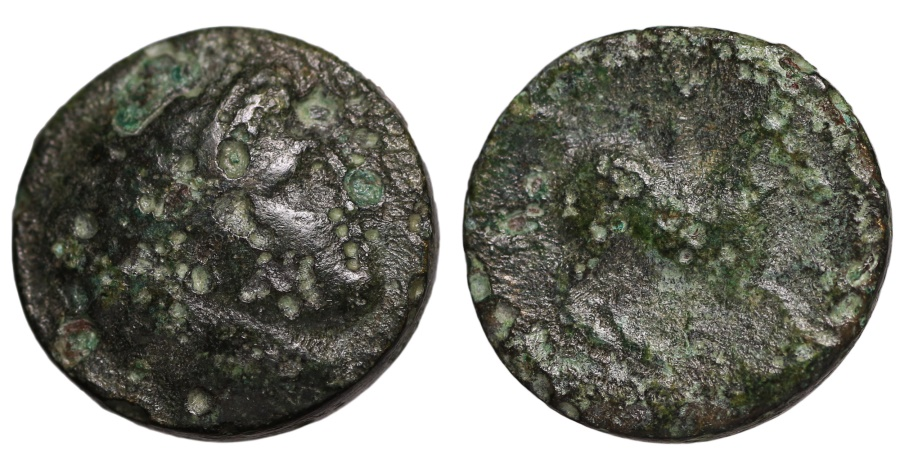Ancient Coins - Philip II. 359-336 BC. AE17. Apollo \ Naked youth on horse prancing VF