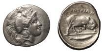 LUCANIA, Thourioi. Circa 400-350 BC. AR Nomos EF. Rare