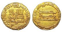 Ancient Coins - ISLAMIC, Abbasid Caliphate. Al-Mahdi. Gold Dinar AH 159-169 / AD 775-785. XF