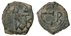 Ancient Coins - Justin II 565-578 AD AE Pentanummium Constantinopolis aXF \ Byzantine Coins