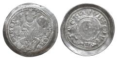 World Coins - Italy Triest Arlongo de' Visgoni 1260-1282 Scyphate Denar Rare XF\UNC