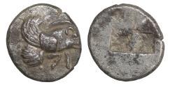 Ancient Coins - IONIA Klazomenai 499-494 BC Silver Diobol XF
