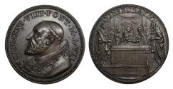 World Coins - Papal States Clement VIII 1592-1605 Bronze Medal 1598 Rare Mint State