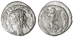 Ancient Coins - Septimius Severus Denarius Emesa mint 194-195 AD. \ VF+