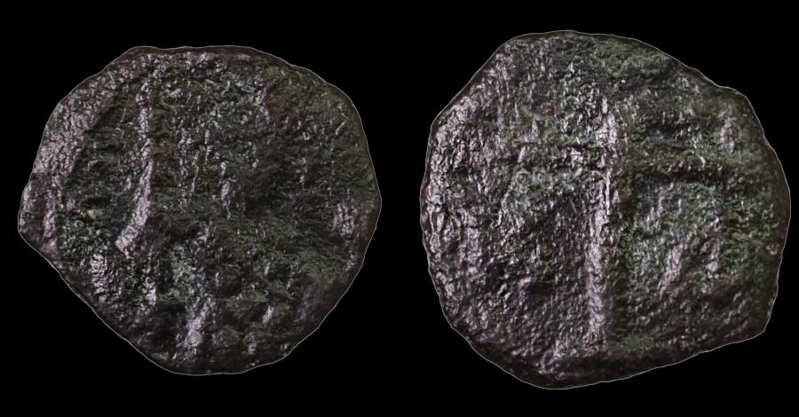 Ancient Coins - Alexius I Comnenus. 1081-1118 AD. AE Tetarteron.  Patriarcal cross on two steps