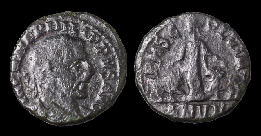 Ancient Coins - MOESIA SUPERIOR Viminacium Philip I AE 26 Struck 246 AD. Moesia between bull and lion. VF