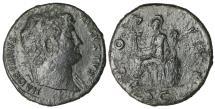 Ancient Coins - Hadrian 117-138 AD Sestertius ROMA \ VF