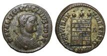 Ancient Coins - Licinius II, as Caesar, AE Follis. 318-320 AD Golden patina. Near mint state.