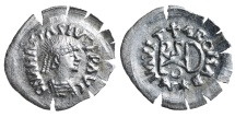 World Coins - The Ostrogots. Theoderic the Great. Sirmium AD 491-518. Half Siliqua.