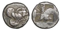 Ancient Coins - IONIA Klazomenai 499-494 BC AR Diobol XF \ Greek Coins