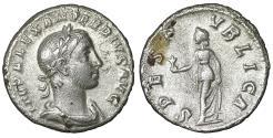 Ancient Coins - Severus Alexander. 222-235 AD. AR Denarius. VF+