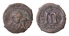 Ancient Coins - Maurice Tiberius AE Follis Theupolis Mint (Antioch) 588/589 AD VF+