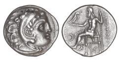 Ancient Coins - Kings of Macedon Kolophon Antigonos I Monophthalmos 320-301 BC Drachm UNC