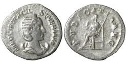Ancient Coins - Otacilia Severa. AD 244-249. AR Denarius PVDICITIA  VF\XF
