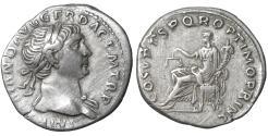 Ancient Coins - TRAJAN (98-117). Denarius. Rome.  Aequitas  XF+