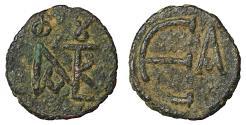 Ancient Coins - Justin II 565-578 AD AE Pentanummium XF \ Byzantine Coins