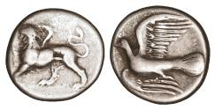 Ancient Coins - Sikyonia Sikyon Silver Hemidrachm 330-280 BC aXF \ Greek Coins