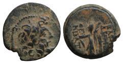 Ancient Coins - Seleukid Kingdom Demetrios II 160-125 BC Bronze Nike  Zeus