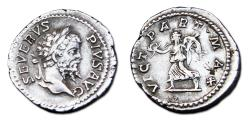 Ancient Coins - Septimius Severus AR Denarius -  VICT PART MAX,  RIC 295