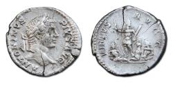 Ancient Coins - Caracalla AR Denarius - VIRTVS AVGG, Rare Reverse Type