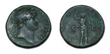Ancient Coins - Hadrian Æ As - Janus Reverse