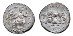 Ancient Coins - CILICIA, Tarsos. Mazaios, 361-334 BC. AR Stater - Superb Obverse and Reverse Strike