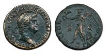 Nero AE Dupondius - VICTORIA AVGVSTI, Victory Flying